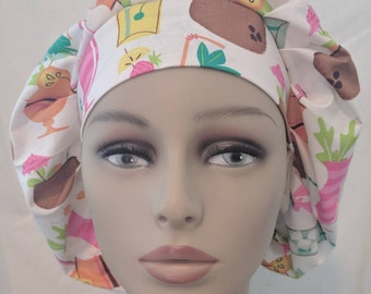 Tropical drinks bouffont scrub hat