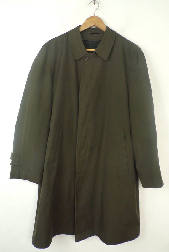 Coat Brand Olive Trench 80s Faux 42 Mens Coat Green Coat Coat Trench Coat Trench Brand Fur Alligator 80s Alligator Green Mens Lined 6SPxW6pHqw