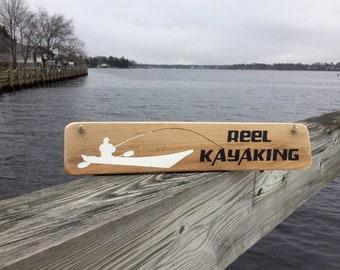 Kayak Fishing Sign Fishing Signs Gift for Kayak Fisherman Kayaking Sign Kayak Fishing Gifts for Fisherman Gifts for Fathers Day Gift for Dad