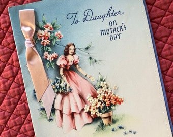 Vintage Mothers Day Greeting Card.