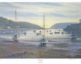 Limited Edition by Nicholas Lewis  'Evening Tide at Salcombe'