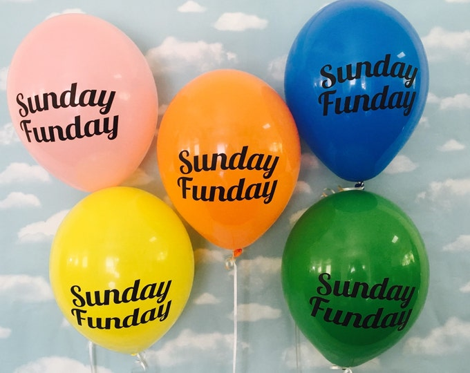 Super Bowl Party Decor, Football party decor, Sunday Funday Balloons, Football decor, tailgate party decor, football party, football season