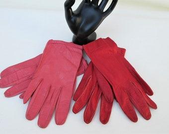 Vintage Gloves   Italian Leather Gloves   Ladies Gloves   Driving Gloves   Pink Leather Gloves   Red Leather Gloves