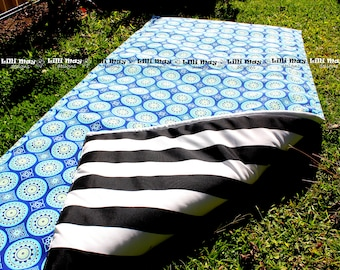 Picnic Rug Blanket // with EXTRA PADDING  // you pick fabric and colour // Water Resistant on Front and Back