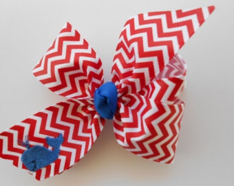 Whale Hair Bow, Embroidered Summer, Red Chevron, Blue Fish, Hairbow Custom, Boutique Girls, Summer Nautical, Vacation Patriotic, Monogram