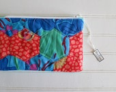 Hand-Pieced Hexie Zip Bag...