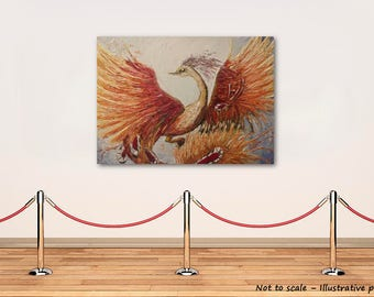The Phoenix on large canvas board