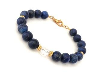 Lapis Lazuli Gemstone Bracelet for Women