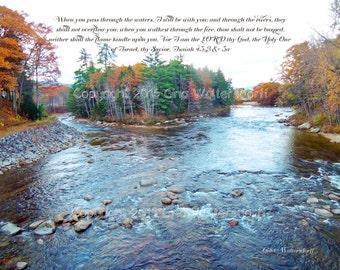 Saco River N Conway NH Inspiration Isaiah 43 2 3 water rivers fire autumn river rocks Gods faithfulness GinaWaltersdorff Original