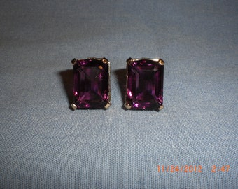 Vintage Mazer Clip On Earrings