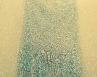 Vintage 50s Half Slip Lace Overlay Med. Pin-Up