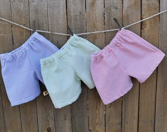 Seersucker shorts, LINED, Boys shorts or pants in many colors, Beach Weddings, Photos, Graduations...3m,6m,9m,12m,18m,2t,3t,4t,5,6,7,8,10,12