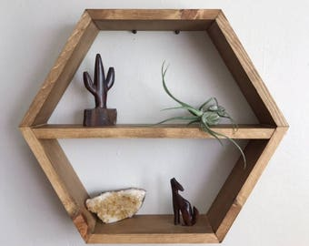 Hexagon Honeycomb Shelf w/ Removable Insert