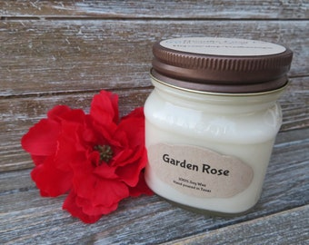Garden Rose - All Natural Hand Poured Scented Soy Candle
