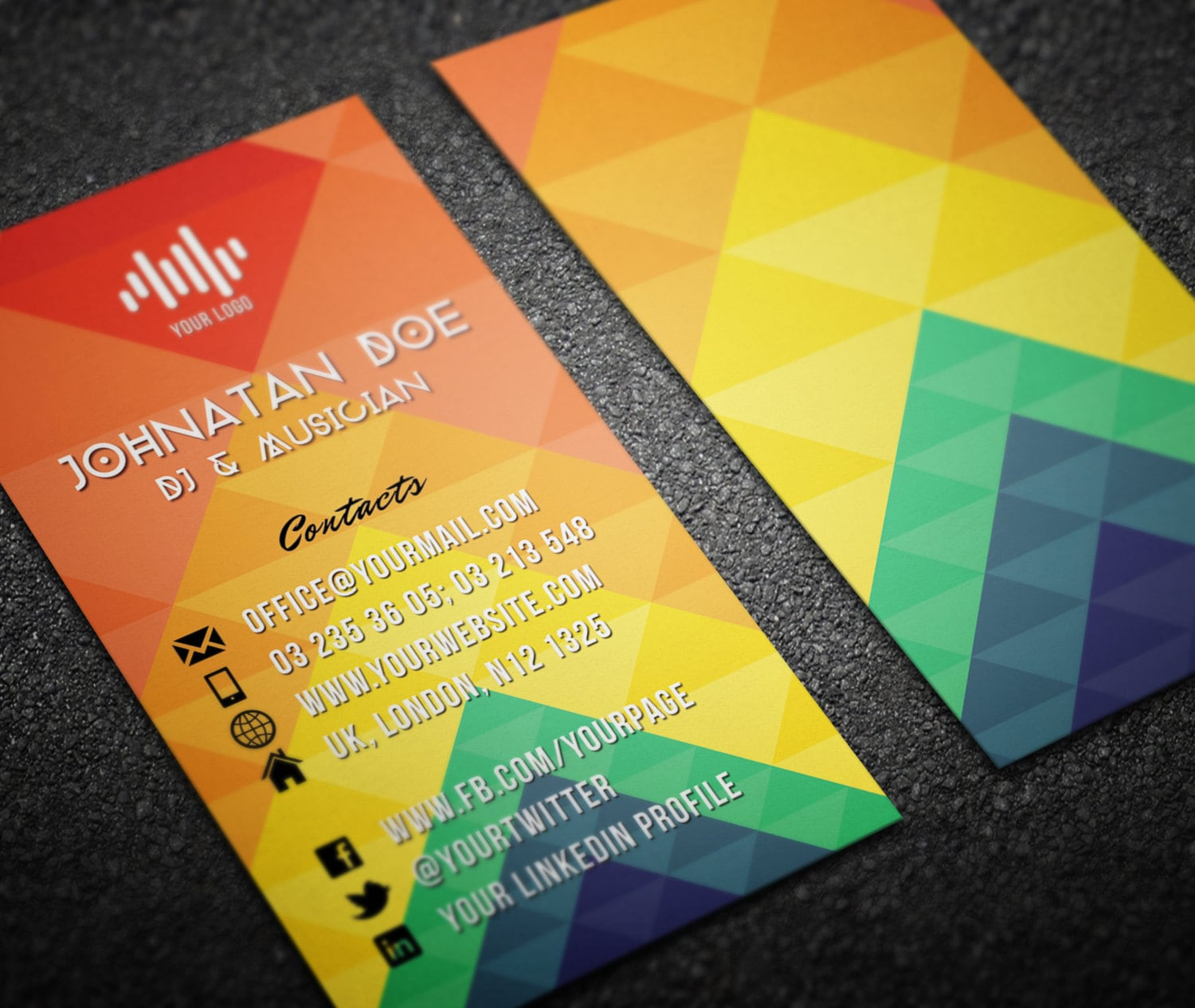 Printable Dj Business Cards Gallery - Card Design And Card Template
