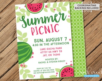 Summer Picnic Invitation, Park Picnic Invitation, Picnic in the Park Invitation, Picnic Party, Printable Event Invitation