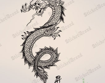 Vinyl Wall Decal Sticker Chinese Asian Dragon 396