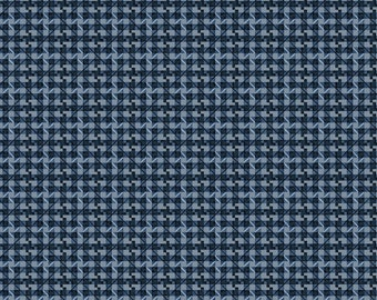 Blue Check Fabric, Workin the West MAS8107B  Maywood Studio, Blue Quilt Fabric, Blue Cotton Fabric, Blue Cotton Checked Fabric, Denim Blue