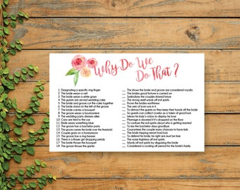 peonies wedding shower, printables, wedding traditions games, why do we do that game, country bridal shower game, boho shower games - br62