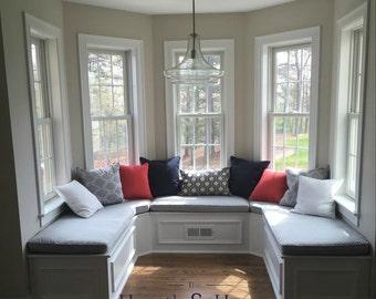 Custom Cushion Sewn Banquette Seat, Bench Cushion With Cording , Window  Seat, Chair Pad