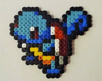 Squirtle pixel art / Squirtle pixel art beading beads