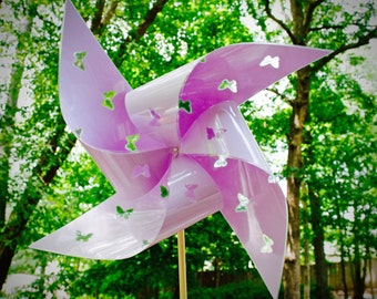 "2 Waterproof Cutout Butterfly Xtra Large 17"" Pinwheels"
