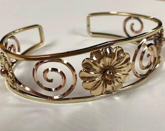 vintage daisy cuff bracelet by probst