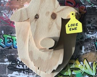 Love Ewe animal head trophy