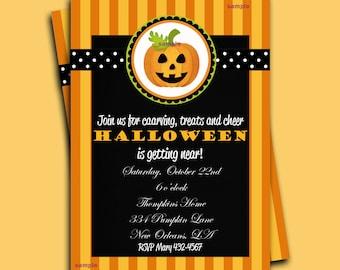 Halloween Invitation Printable - Sweet Pumpkin Collection