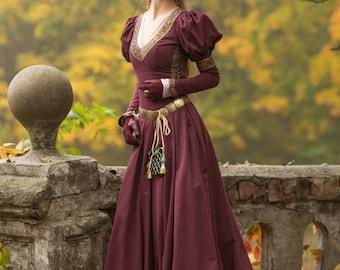 "16% DISCOUNT! Medieval Cotton Fantasy Dress ""Princess in Exile""; Long Dress; Women's Dress; Medieval Dress"
