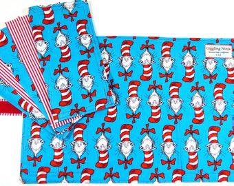 Cat in the Hat Zero Waste Children's Roll Up Placemat Set