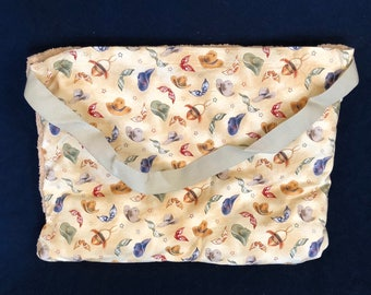 "Beach Towel Pool Bag Chair & Car Seat Cover - ""Cowboy Hats"" Pocket -  with Jumbo BEIGE Terry Towel (BTB-45-0696-AMBER-B9LM)"