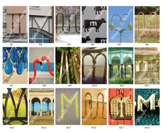 Letter M Word Art