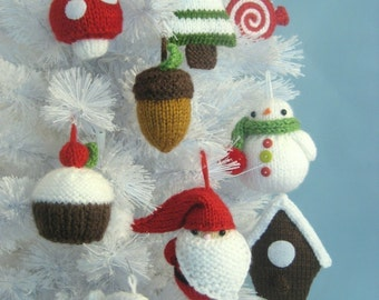 Amigurumi Knit Christmas Ornament Pattern Set Digital Download