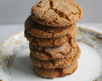 Soft Molasses Cookies (ONE DOZEN)