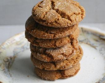 Soft Molasses Cookies (ONE DOZEN)