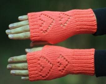 Knit fingerless gloves Womens texting gloves Knitted mitts Pink fingerless mittens Knit hand warmers Pink knit gloves