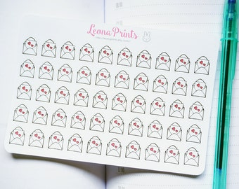 Happy Mail Letter Planner Stickers | Stationery for Erin Condren, Filofax, Kikki K and scrapbooking