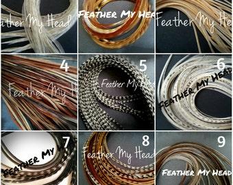 """Feather Hair Extensions  Long 9""""-12"""" ( 23cm - 31cm) Premium Grade Pick Your Colors"""
