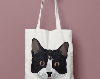 Tuxedo Cat Tote