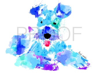 Schnauzer || Abe the Schnauzer || Schnauzer Art || Watercolor Schnauzer || Watercolor Print