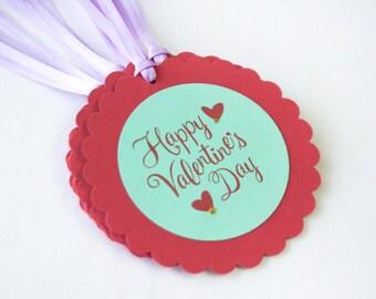 Valentines tag Champagne set 10 Handmade decoration
