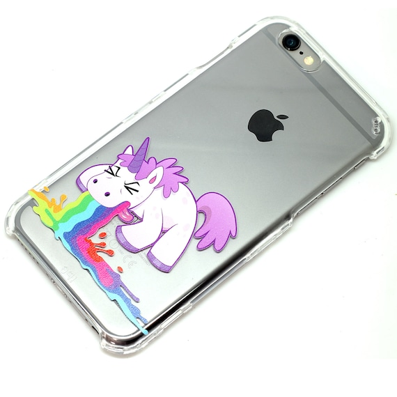 phone cases iphone 6 unicorn barf throw up clear phone iphone 6 7 se 6 2315