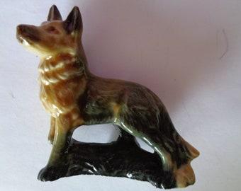 Vintage Wade Ceramic German Shepherd
