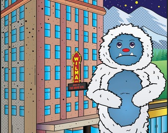 The Yeti Visits the Wilma; The abominable snowman catches a concert at this historic Missoula, Montana venue.  Mountains, Fun, Colorful