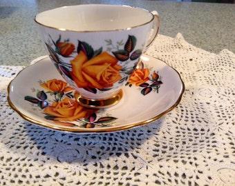 Bone China Yellow Rose of Texas teacup