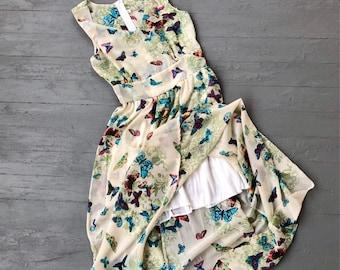 Butterfly Party Dress Small // Prom Dress // Bridesmaid Dress Butterflies