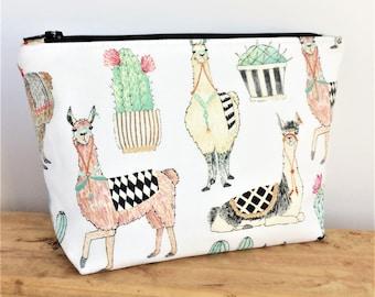 LLAMA BAG - Llama Gifts - Llama Makeup Bag - Alpaca - Llama Zipper Pouch - Best Friend Gift - Cosmetic Zip Pouch - Cute Pencil Pouch