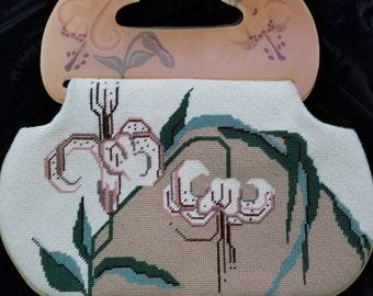 Vintage Moon Bag by Patricia Smith Hand Painted 1980