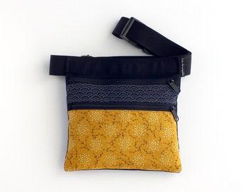 Bolso flores, riñonera dos cremalleras, bolso para cintura, riñonera para mujer, bolso verano